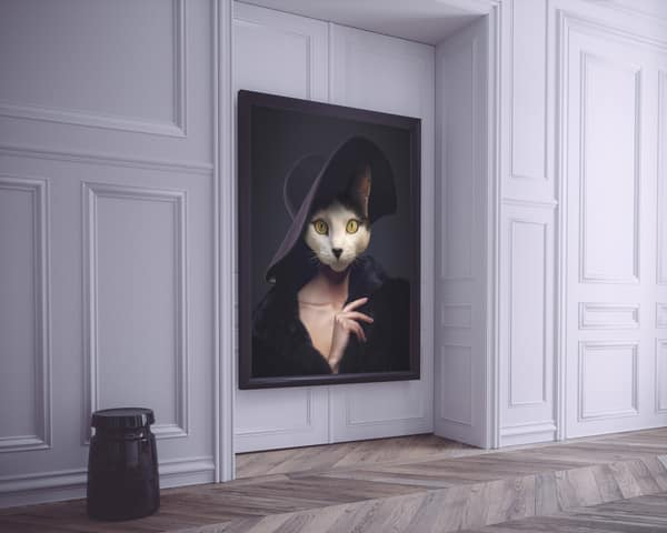 Peinture chat sur mesure