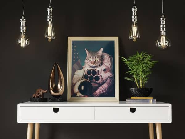 Peinture chat personnalisée